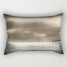 Clouds Over the Pier Rectangular Pillow