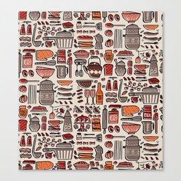 shopping list Canvas Print