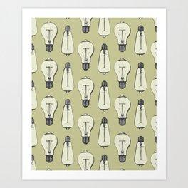 Lightbulb Moment in Mustard Art Print