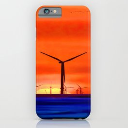 Windmills in the Sea iPhone Case