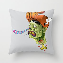 Zombie_by LelosLovesYou Throw Pillow