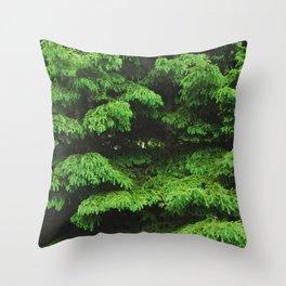 Greenery I Throw Pillow