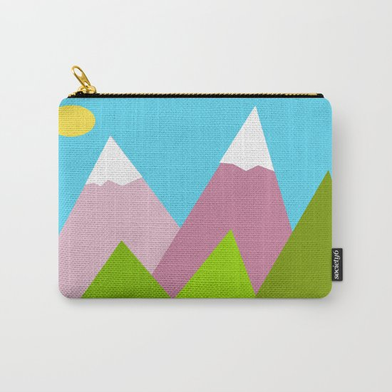 Pines and Pink Mountains Carry-All Pouch