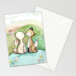 Rabbit and fox Stationery Cards