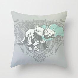 Fearless Creature: Frill Throw Pillow
