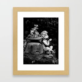 The cherub and the mice Framed Art Print