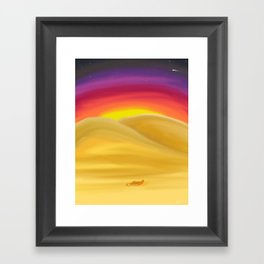 Desert Night Framed Art Print