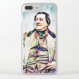 Gioachino Antonio Rossini (1792 – 1868) (digitized photography from 1865) Clear iPhone Case
