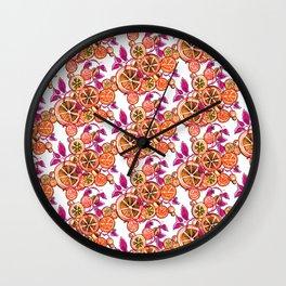 Lemon Raspberry Wall Clock