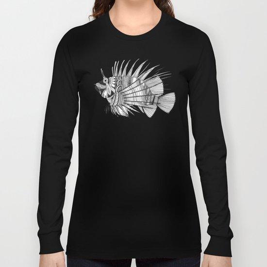 fish mirage black white Long Sleeve T-shirt