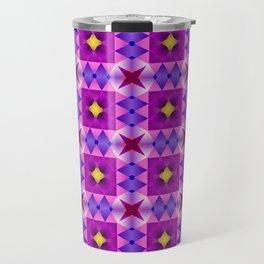 Pattern romb violet Travel Mug