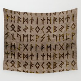 Ancient Celtic Runes  Alphabet pattern Wall Tapestry
