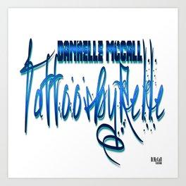 TattoosByRelle(Logo) Art Print