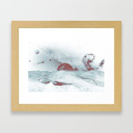 Pink Moon Mountain Framed Art Print