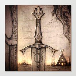 Tareldar True-Sighted Longsword Canvas Print