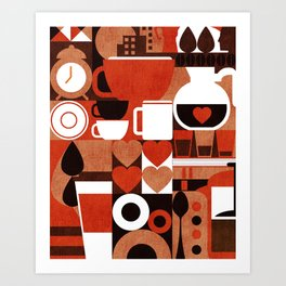 Coffee Story Art Print