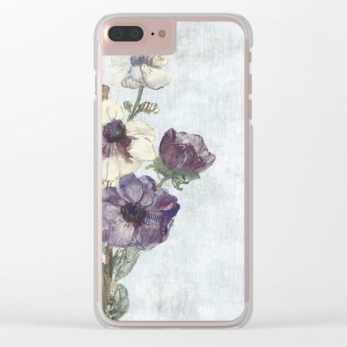 Revision of Anemones Clear iPhone Case
