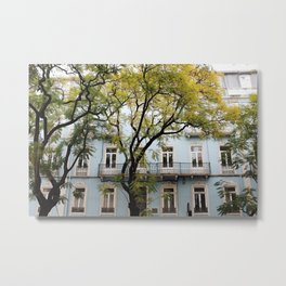 Behind Branches Metal Print