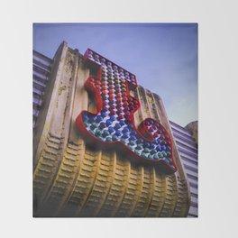illuminated amusement arcade lettering Throw Blanket