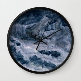 Pink & dark grey abstract I Wall Clock