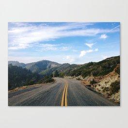 Fairfax-Bolinas Road Canvas Print