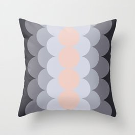 Gradual Paledogwood Throw Pillow