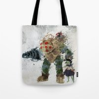 bubbles Tote Bags featuring Bubbles by Melissa Smith