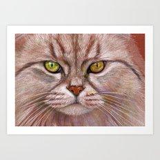 White Cat CC15-01 Art Print