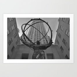 Atlas Statue and Rockefeller Center Art Print
