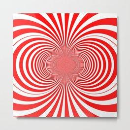 Candy Stripe Fractal Metal Print