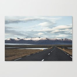Road Trip in Iceland. || Roads that Lead to the Mountains. || MadaraTravels Canvas Print