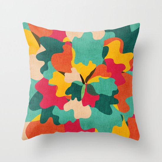 Aloha Camo Throw Pillow