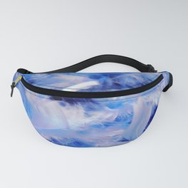 Blue Plumes Fanny Pack