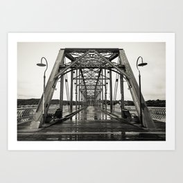 Walnut Street Bridge in Platinum Art Print
