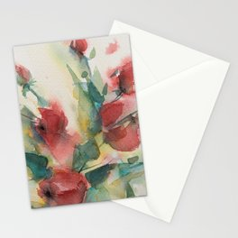 Roses 2 (watercolor) Stationery Cards