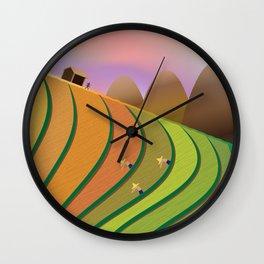 Terrace Fields Wall Clock