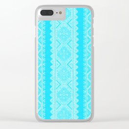 Ukrainian embroidery heavenly azure Clear iPhone Case