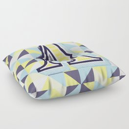 Letter A Floor Pillow