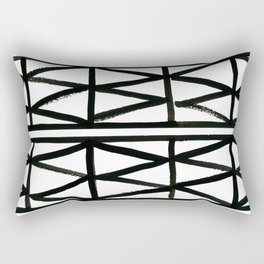Brush and Ink II Mudcloth Pattern Rectangular Pillow