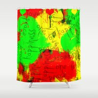 rasta Shower Curtains featuring Rasta by Kimberly