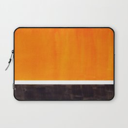 Minimalist Mid Century Modern Color Block Pop Art Rothko Inspired Golden Yellow Black Squares Laptop Sleeve