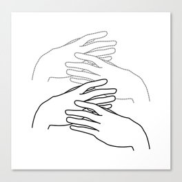 caressing hands Canvas Print