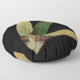 Three Eucalyptus Leaves: A Minimalist Perspective Floor Pillow