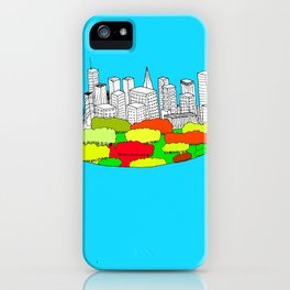 Skyscrapers in the trees iPhone Case