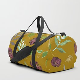 Simple and stylized flowers 12 Duffle Bag