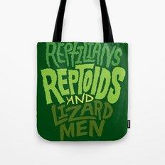 Reptilians, Reptoids, Lizard Men Tote Bag