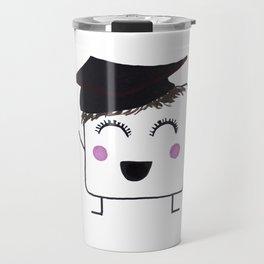 MyHappySquare with a graduation hat Travel Mug