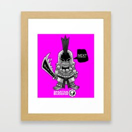 Chibi SPARTAN BUDDHA Framed Art Print