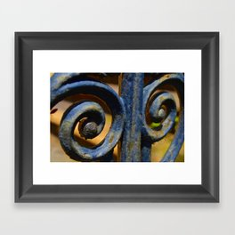 Curved Design Framed Art Print
