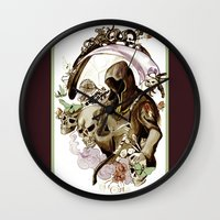 tarot Wall Clocks featuring Death Tarot by A Hymn To Humanity